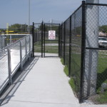 8 ft Black Vinyl Coated Chain Link Fence - Site Fencing