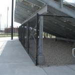 8 ft Black Vinyl Coated Chain Link Fence - Bleacher Fencing