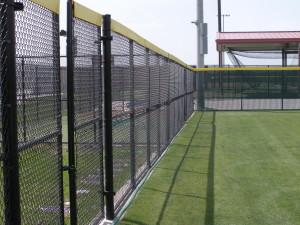 8 ft Black Vinyl Coated Chain Link Fence - Bullpen Area