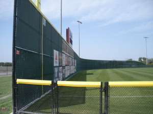 16 ft Green Vinyl Chain Link Outfield Fence