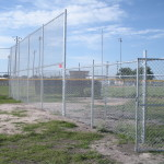 16 ft Galvanized Chain Link Backstop