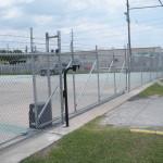 Chain Link V-track Gate