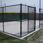 8 ft Commercial Grade Black Vinyl Coated Chain Link Fence