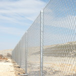 6 ft Commercial Grade Chain Link Fence with Top Tension Wire in lieu of Toprail