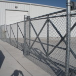 6 ft Tall Chain Link Cantilever Gate