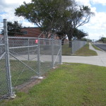 6 ft Chain Link High Security Fence - Army Reserve