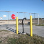 Automated Chain Link Cantilever Gate - Aluminum Track Gate