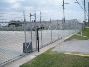 V-Track Roll Gate with Operator & Keypad/Intercom Combo