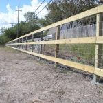 3-Rail Wood Fence with Wire Backing