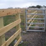 Wood Corral Fencing with Galvanized Gates