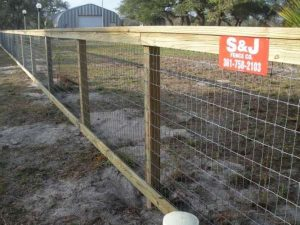 2-Rail Fence with Cap and Wire Backing