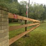 3-Rail Cedar with Treated Posts