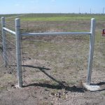 Welded Galvanized Steel H-brace Assembly for Net Wire Fences