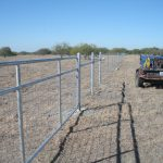 4 ft. Net Wire Fence with Welded Galvanized Steel Bracing & 3-Bar Galvanized Wire Filled Gate