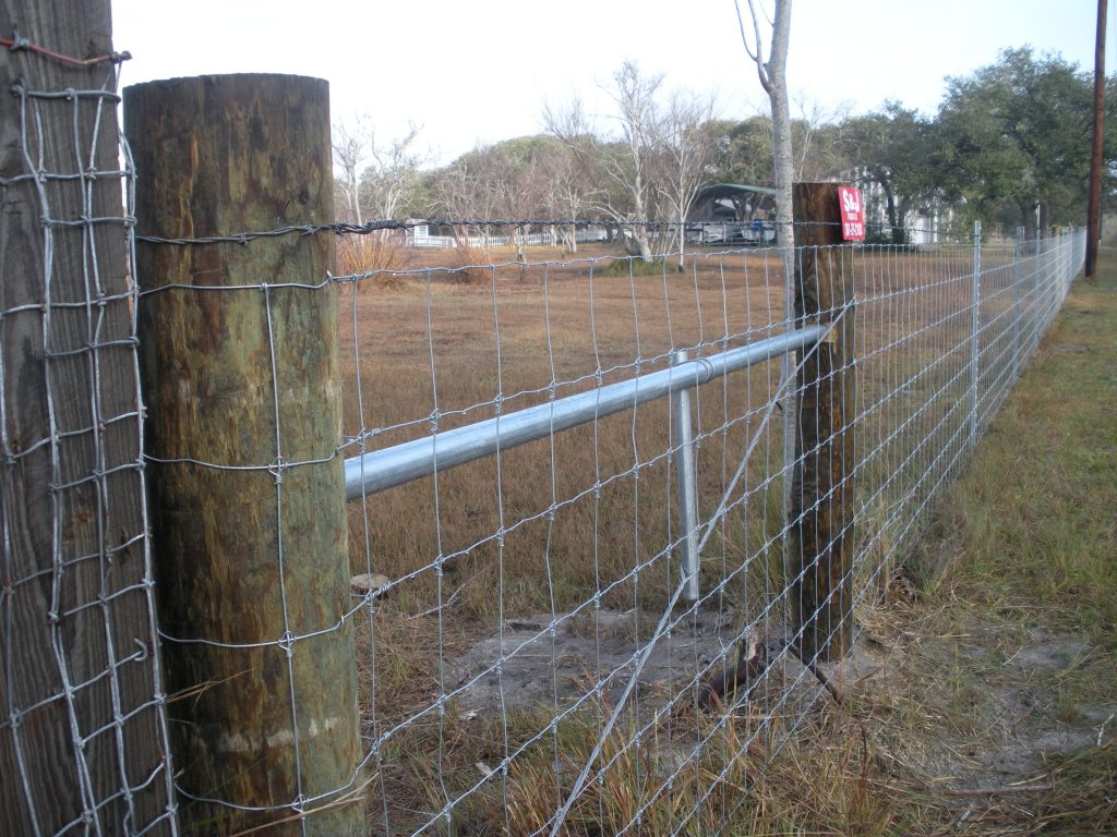 Project gallery s j fence co - Build wire fence foundation ...