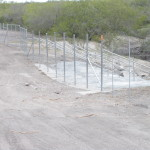 8 ft. Game Proof Fence - Finished High Strength Water Gap