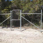 8 ft Game Proof Fence - 4 ft Wide Personnel Gate