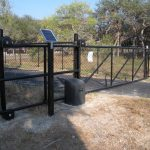5 ft. Black Vinyl Coated Chain Link Cantilever Gate