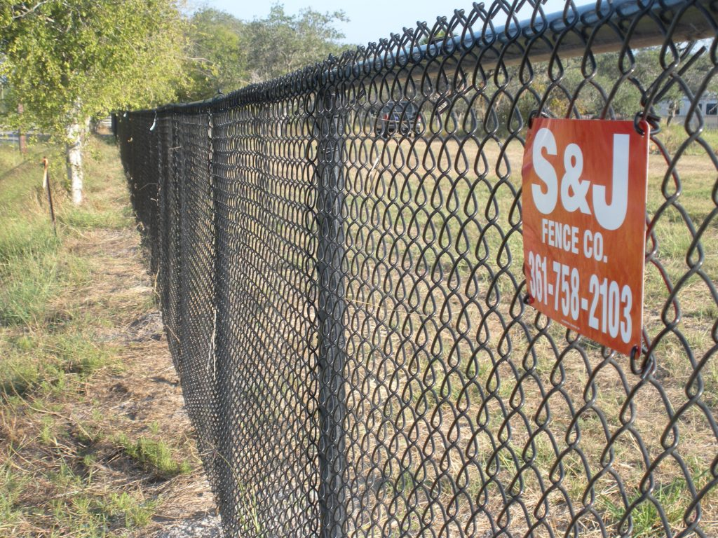 Residential chain link s j fence co
