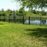 4 ft. Residential Grade Aluminum Fence with Arched Gate