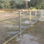 4 ft 2-rail Fence with Wire Backing and Top Cap