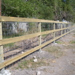 5 ft 3-rail Fence with Wire Backing