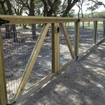 5 ft Picture Frame Fence with Galvanized Panels - Double Gates