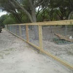5 ft Picture Frame Fence with Galvanized Panels