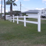 3 ft. White Vinyl 2-Rail Fence