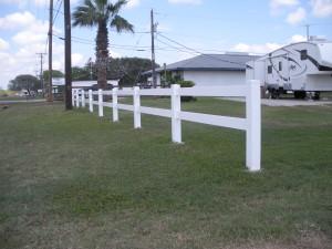 3 ft. White Vinyl 2-Rail Fence