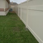 6 ft. Almond Vinyl Montauk Style Privacy Fence