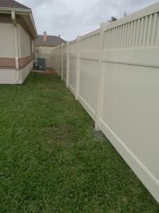 6 ft. Almond Vinyl Montauk Style Privacy Fence