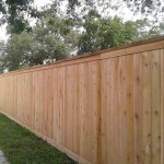 6.5 ft. Cedar Cap And Trim Privacy Fence