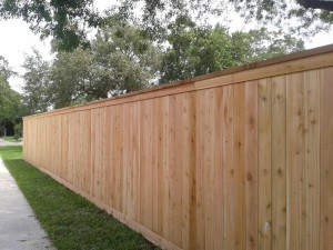6.5 ft. Cedar Cap And Trim Privacy Fence