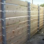 Custom Wood Fence with Square Steel Posts