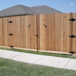 6.5 ft. Cedar Privacy Fence - 10' Wide Double Gates