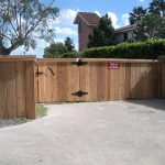 4 ft. Cedar Cap and Trim Wood Fence - Single Gate