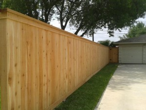 Cedar Cap & Trim Privacy Fence