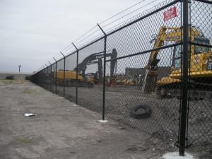 7' Black Vinyl Chain Link Security Fence