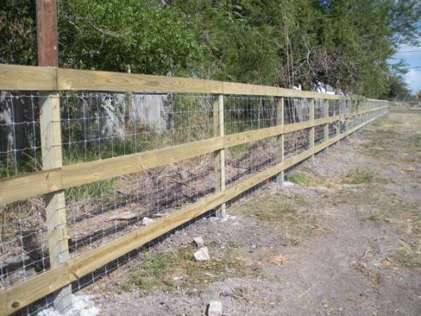 Wire And Wood Fence | Project Gallery S J Fence Co
